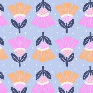 pattern_pink_blue_flowers_flores_floral_