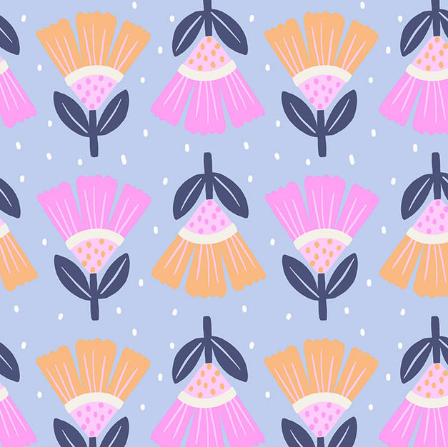 pattern_pink_blue_flowers_flores_floral_