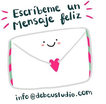 Escríbeme un mensaj feliz a info@debcustudio.cm