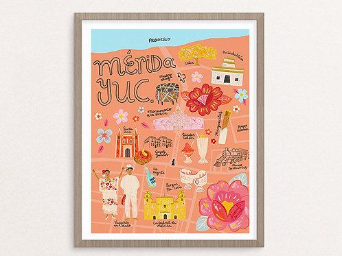 Print - Mapa Mérida