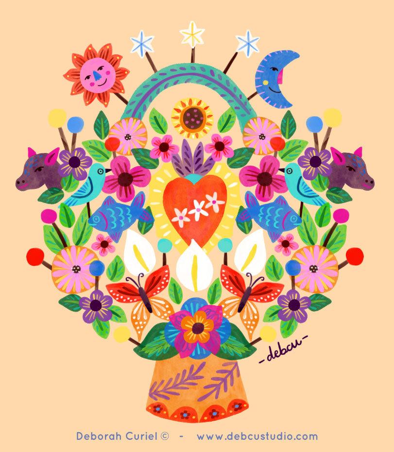 arbol_vida-mexico_folk_ilustracion_illus