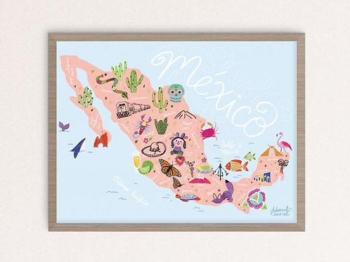 Print - Mapa México