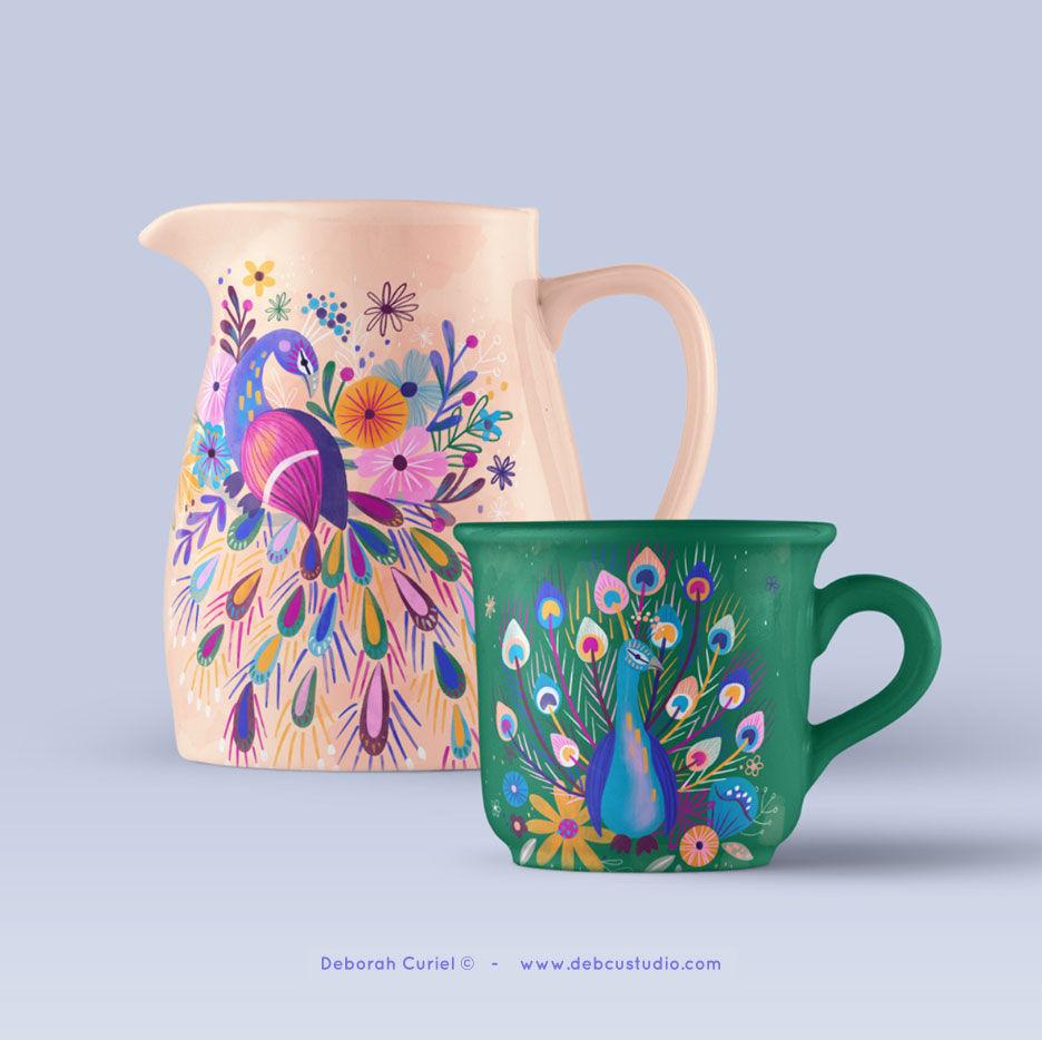 peacock_ilustracion_illustration_deborah