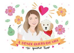 Retratos personalizados mascotas Debcu Studio