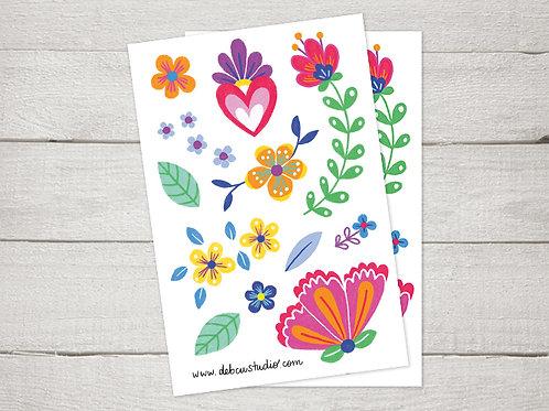 Stickers - Flores Mexicanas