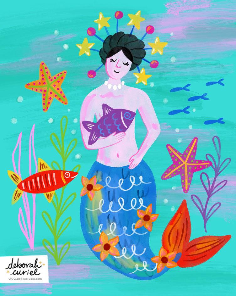 mexican_sirena_illustration_mermaid_ilus