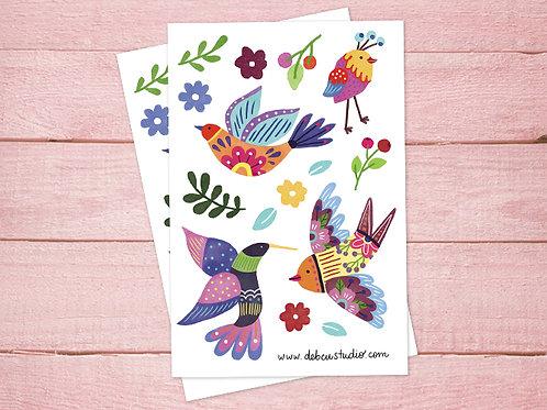 Stickers - Pájaros
