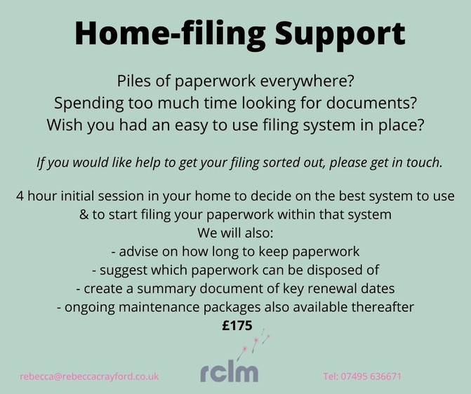 Home-filing support