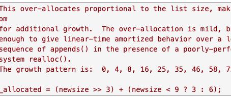 CPython data structures