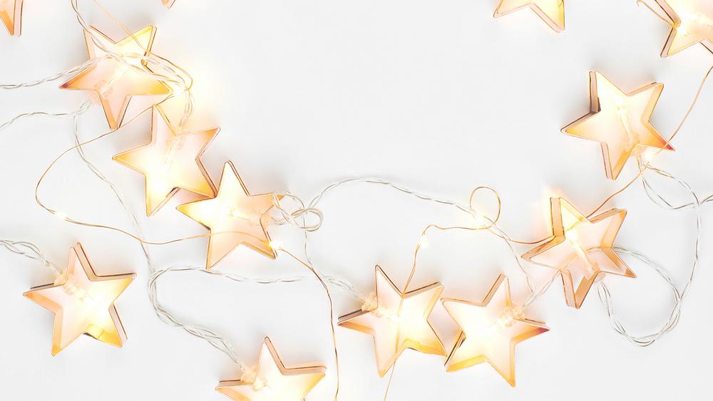Weihnachtslichterkette mit Sternen