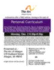 Personal Curriculum  Webinar October 201