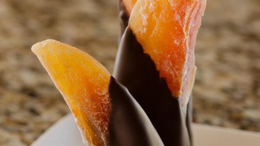Hand Dipped Chocolate Papaya Spears