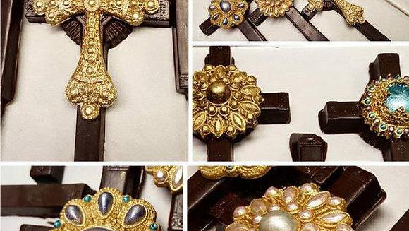 Handmade, Hand Painted & Decorated Cross