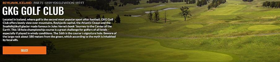 GKG Golf Club Trackman course