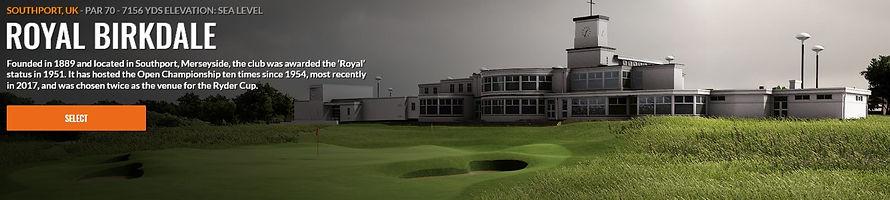 Royal Birkdale Trackman Course