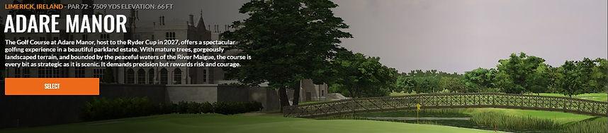 Adare Manor Trackman course