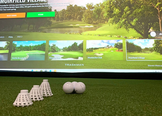 Indoor 18, Trackman, Golf, Driving Range, golf courses, tees, turf
