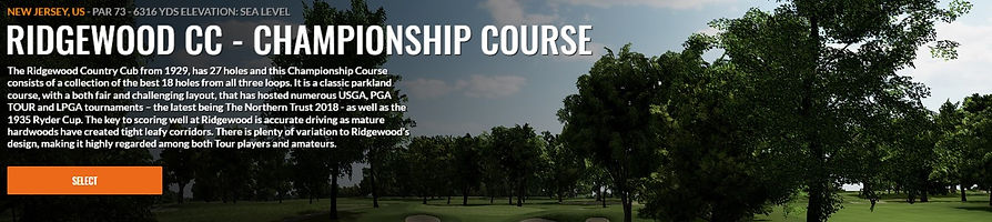Ridgewood CC Championship Trackman Course