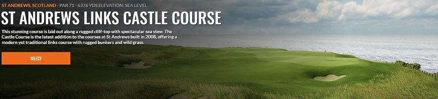 St. Andrews Castle Course Trackman Course