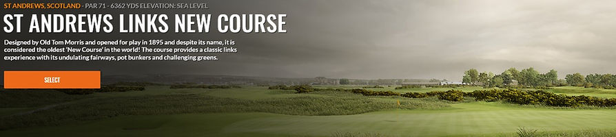 St. Andrews new course Trackman Course