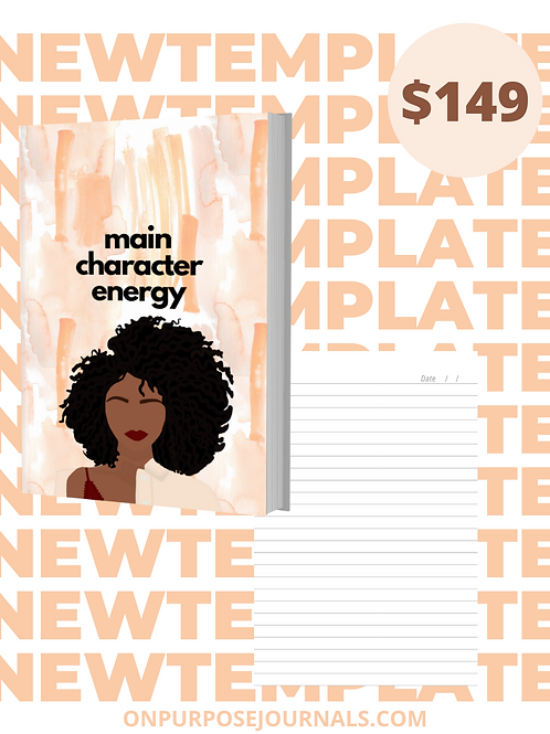 Main Character 6X9 Journal Template