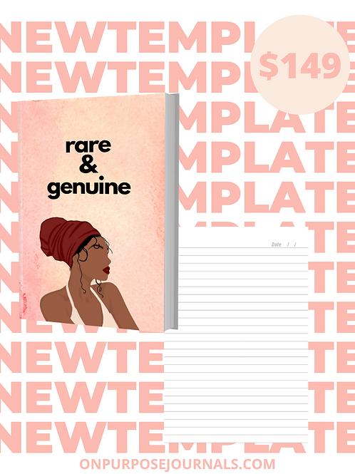 Rare & Genuine 6X9 Journal Template