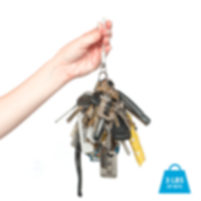 The Dongle Dangler can hold more than three pounds of keys.