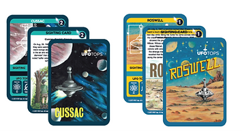 ufo tops collector cards cussac france roswell new mexico