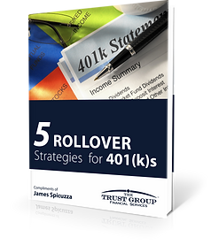 JAMES SPICUZZA | 401(k) ROLLOVER GUIDE | TRUST GROUP FINANCIAL