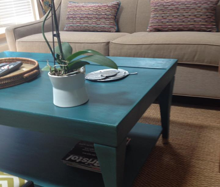 Custom Painted Coffee Table with Custom