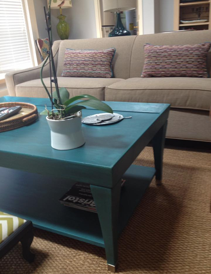 Custom Painted Coffee Table with Custom