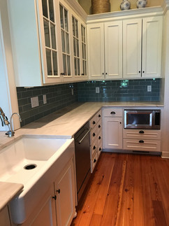 Stone Counter Top Glass Tile Backsplash