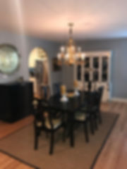 After Dining Room Faux Ostrich Fabric Di