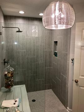 Bathroom Remodel with Tile Walk In Shower