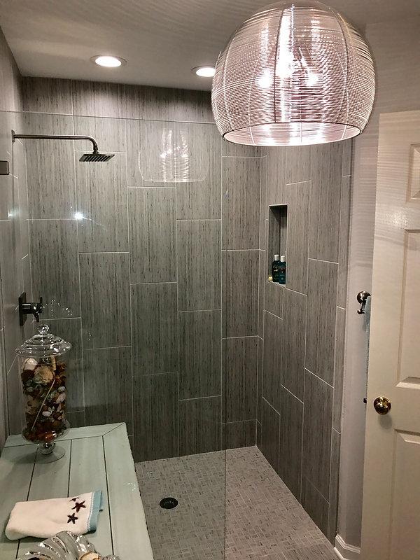 After Bathroom Remodel Tile Walk In Show