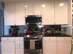 Kitchen Redesign Mirrored Backsplash