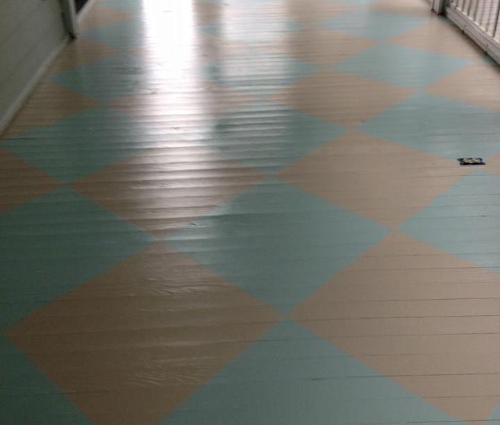 Custom Painted Porch Floor Design