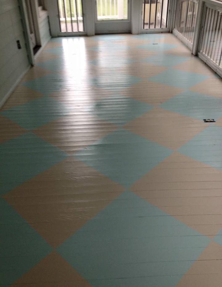 Custom Painted Porch Floor Design