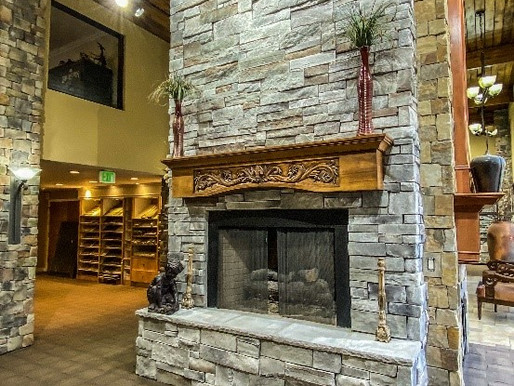 Design Elements for a Modern or Contemporary Stone Veneer Fireplace