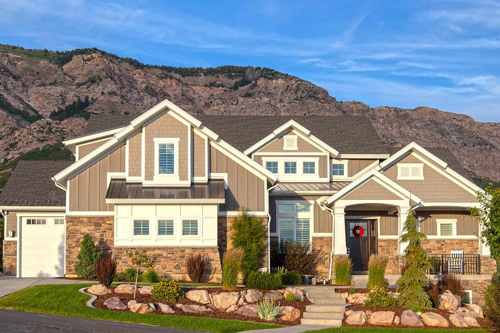 mountain-side home