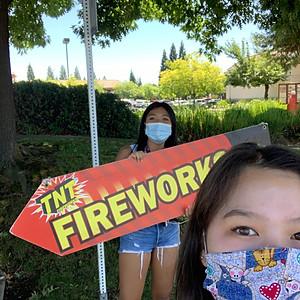 Fireworks Sign Waving