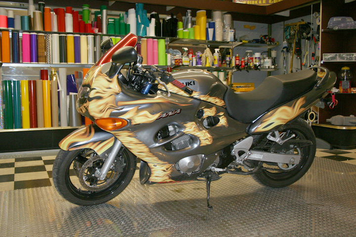Fire Bike Wrap