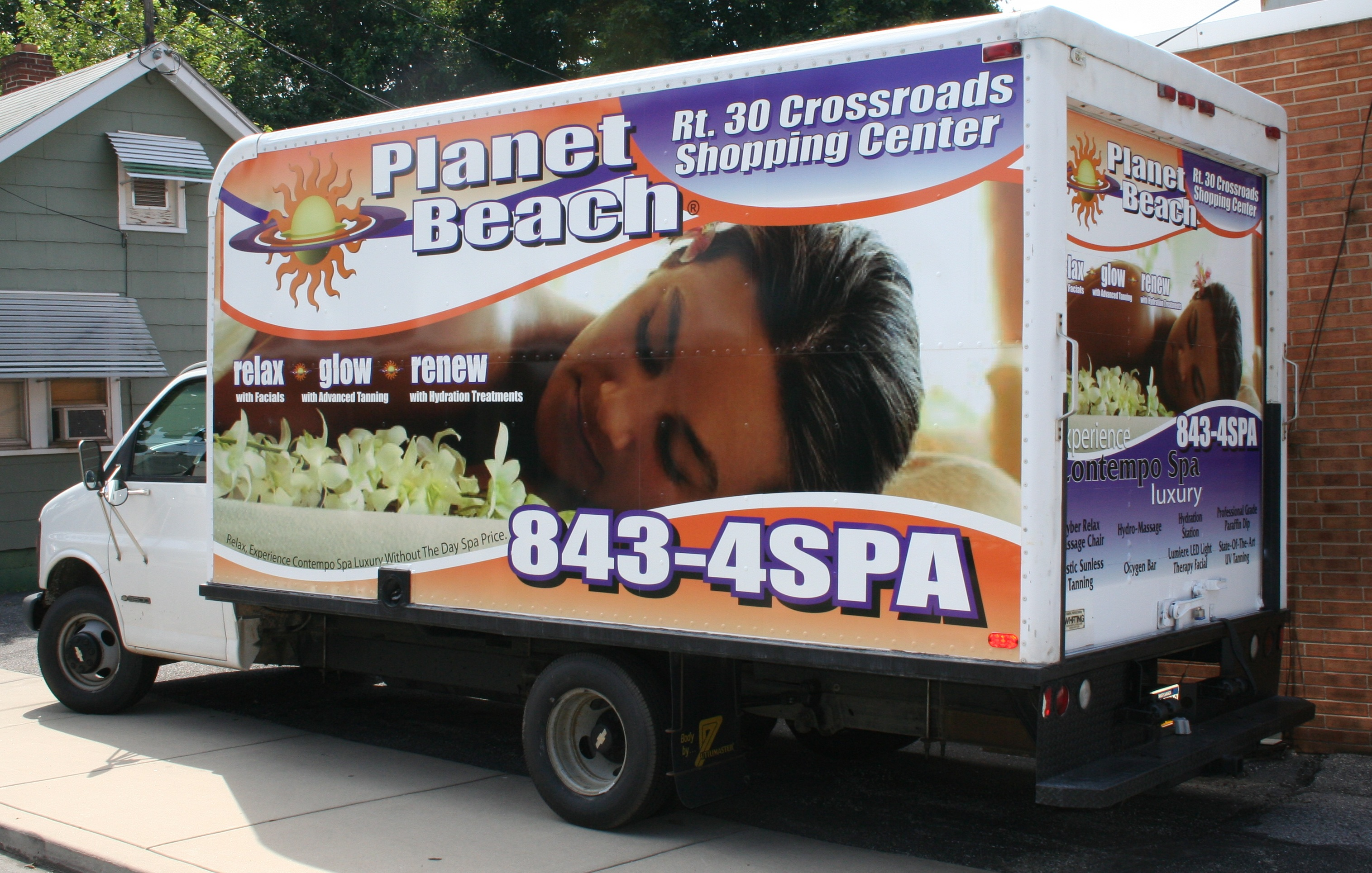 Planet Beach Box Truck Wrap