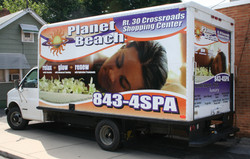 Planet Beach Box Truck Wrap
