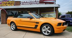 Orange Mustang Stripes