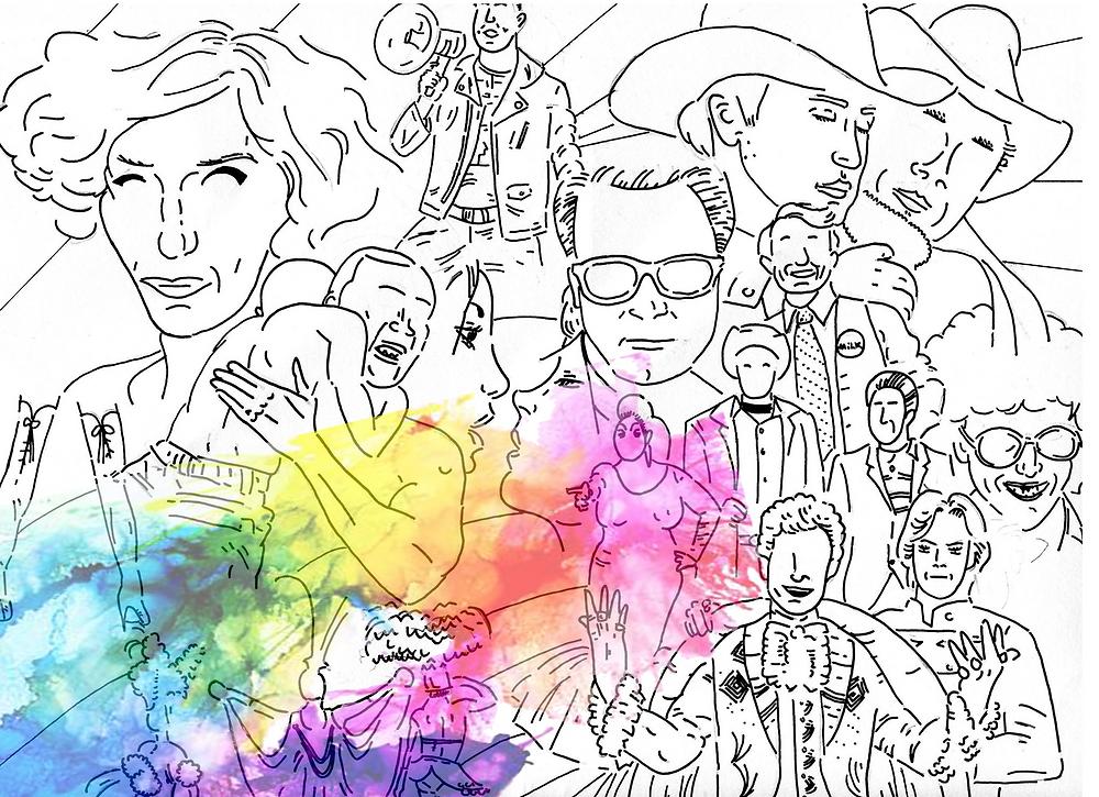 pride in cinema film illustration art