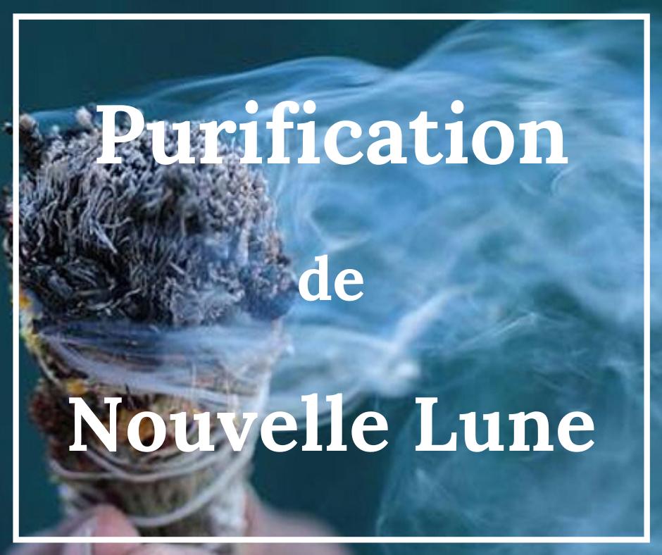 Purification fumigation smudging nouvelle lune