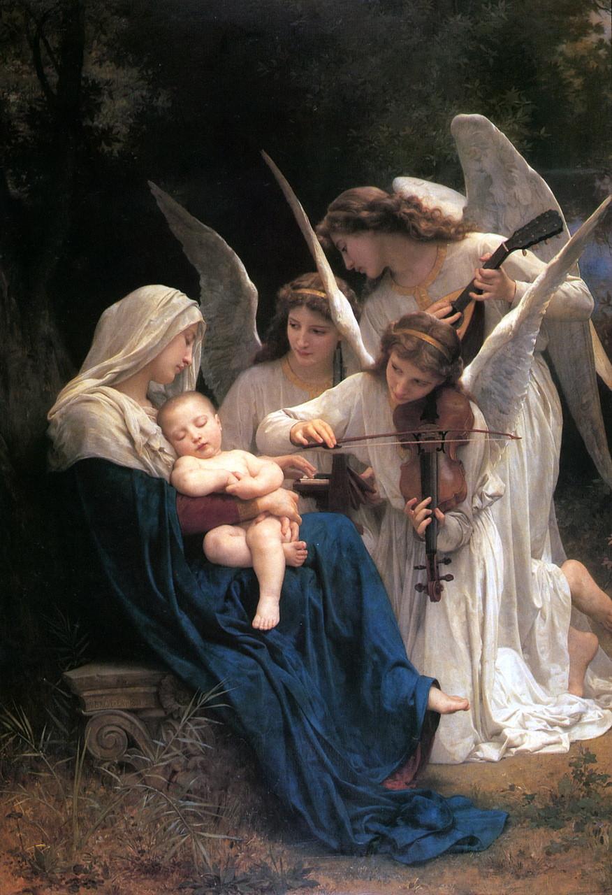 tableau maitre, anges, vierge marie, développement personnel