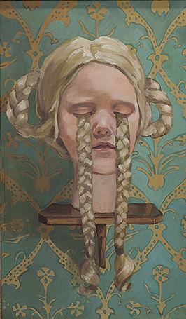 Pia Ingelse Flätade tårar. Olja på pannå 2010