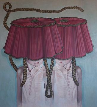 Pia Ingelse Twin Pix. Olja på duk.110x120 cm.2011